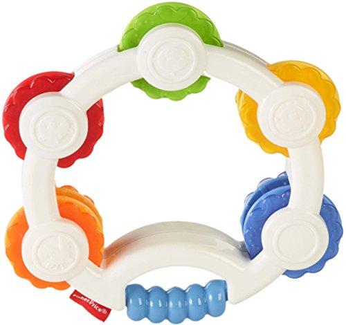 Fisher-Price Pandereta sorpresas, juguete musical para bebé +3 meses (Mattel BLT37)