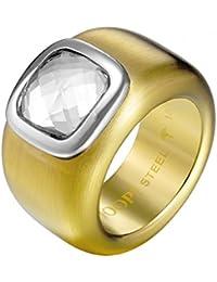 Joop! Damen-Ring Vergoldet Glas weiß Gr. 56 (17.8) - JPRG10629C1