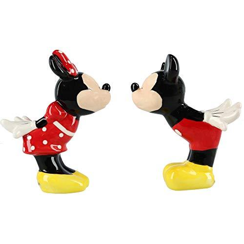 Jerry Leigh Salz- und Pfefferstreuer Mickey und Minnie Maus bei einem Kuss, mehrfarbig -