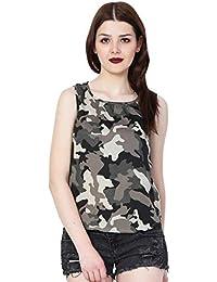 a065a6556ed79 MALLORY WINSTON Camo Print Women s Sleeveless top