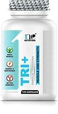 1ne Nutrition Tri+ 120 x 700mg Capsules - 95% Saponins Tribulus Terrestris - Testosterone Booster Support Muscle Gain from 1ne Nutrition