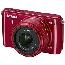 """Nikon 1 S1 - Cámara EVIL de 10.1 Mp (pantalla 3""""), rojo - Kit cuerpo con objetivo 11-27.5 mm"""