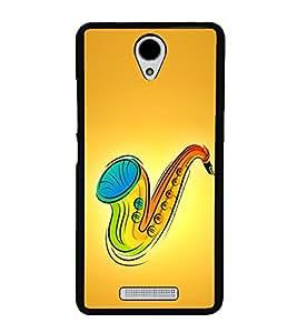 Colourful Saxophone 2D Hard Polycarbonate Designer Back Case Cover for Xiaomi Redmi Note 2 :: Redmi Note 2 Prime