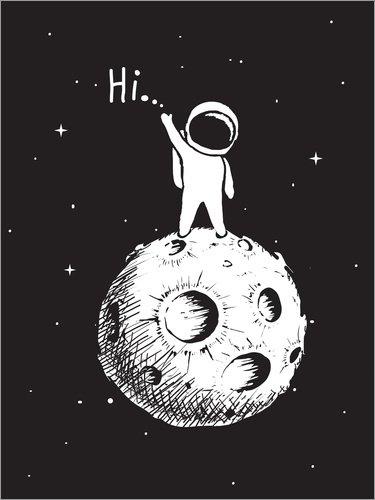 Unbekannt Alu Dibond 90 x 120 cm: Hallo da draußen! von Kidz Collection/Editors Choice
