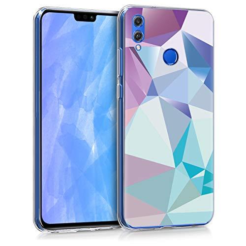 kwmobile Huawei Honor 8X Hülle - Handyhülle für Huawei Honor 8X - Handy Case in Dreiecke Asymmetrie Design Hellblau Rosa Blau