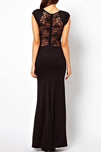 Dissa® femme Noir SY6137 longue Robe Noir