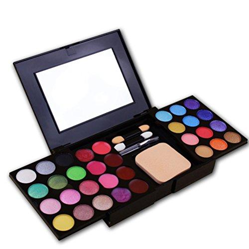 Frcolor 24 Lidschatten Palette 8 Lip Gloss Lip Liner 3 Presspuder Makeup Set - Lip Rouge Palette