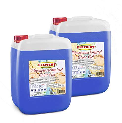 Element Flüssigwaschmittel Color Gel Waschmittel Colorwaschmittel Buntwäsche Waschpulver flüssig 20 Liter