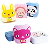 #5: VR SHOPEE Pocket Mini Contact Lens Case Travel Kit Mirror Container High Quality Cute portable (multi color)