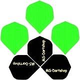 MS-DARTSHOP Dart-Flight Nylon Standard, 3 Satz = 9 Stück (Neon-Grün)