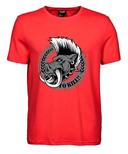 makato Herren T-Shirt Luxury Tee Wild Boar Coral