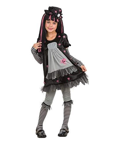 Puppe Gothic Kostüm - Horror-Shop Gothic Puppen Kinderkostüm L 152-164