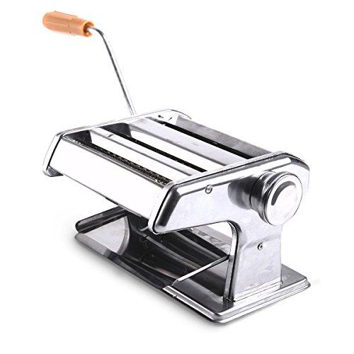 Generic NV _ 1001004650_ yc-uk2steelagn Maker Maschine Etti 3in 1Pasta Mach Cutter Tagliatelle daraus Lasagne Spaghetti iatel Edelstahl 3in 1 (Pasta-maker, Elektrische)