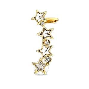 BlackAmazement Cartilage Ohrklemme Ohrstecker Sterne Stars Zirkonia CZ für das linke Ohr Damen