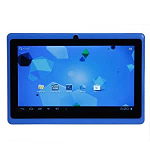 """7"""" inch LélikTec® A13 Capacitive Touch Screen Allwinner 1.0GHz CPU (up to 1.5GHz maximum) Processor Android 4.0.4 (Ice Cream Sandwich OS) Tablet PC 4GB HDD 512MB WiFi MID Epad PREINSTALLED UK Apps- BBC Iplayer, Flash Player 11.1, Youtube, Facebook, Google Maps, Google Playstore, Templerun (Blue)"""