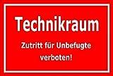 Melis Folienwerkstatt Aufkleber – Technikraum - 30x20cm – S00079-D - 20 Varianten