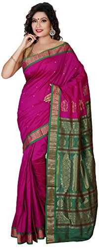 Aruna Fashions Self Design Paithani Gatti 3D Art Silk Saree( Dark Magenta...