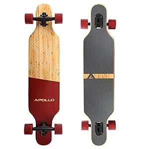 Apollo Longboard Bali Special Edition Komplettboard mit High Speed ABEC Kugellagern, Drop Through Freeride Skaten Cruiser Boards