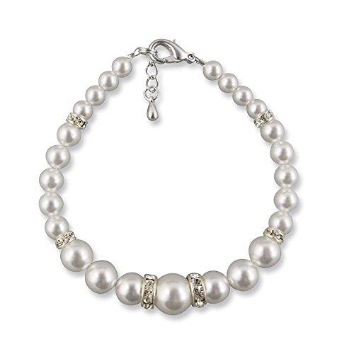 Rivelle Damen Armband Perlen Juliana weiß 18,5 cm