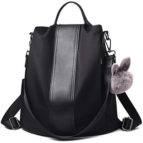 Charmore Damen Rucksack Wasserdichte Nylon Schultaschen Anti-Diebstahl Tagesrucksack Schultertaschen - Rucksack-geldbeutel-handtasche