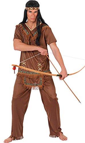 Imagen de disfraz de indio flecos para hombre