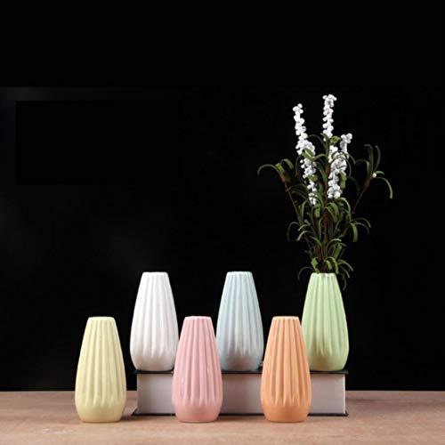 ZMSL Kreative Vintage Verzinktem Metall Eisen Blume Garten Shabby Vase Topf Fass Pflanzer Decor Desktop Blumen Vase für Wohnkultur, 6 stücke