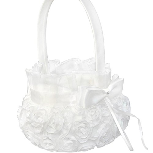 qhgstore-pure-white-romantic-rosette-wedding-flower-basket-flower-girl-basket-for-wedding