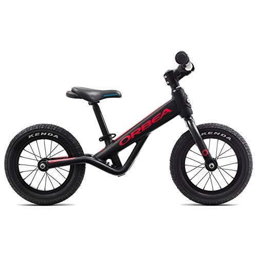 ORBEA Grow 0Niños Rueda 12Pulgadas Aluminio Bike Bicicleta Niño Niña Niño Kids, j00112K, Color Negro Rojo