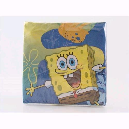 r Einweg Spongebob 33x 33cm conf 16PZ 121162 ()