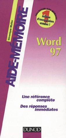 Word 97, aide-mémoire