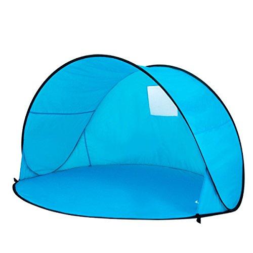 Outdoor Automatisches Zelt Frei Nach Oben 2 Sekunden Geschwindigkeit Geöffnet 2 Personen Strandzelt Angelzelt Im Freien Sonnenschutz Sonnenschirme,LakeBlue-OneSize