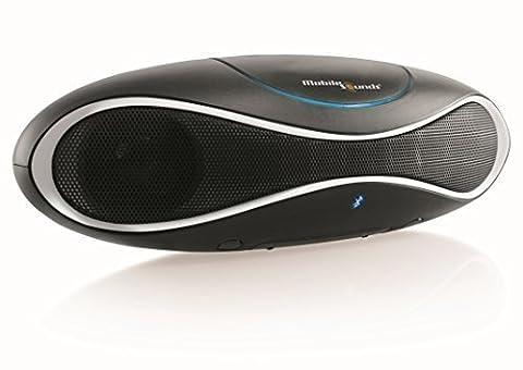 MobileSounds ® Ellipse 2 tragbarer All-in-One Bluetooth ® Lautsprecher mit Radio und NFC (Farbe: Black White)