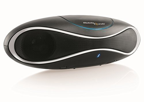 MobileSounds ® Ellipse 2 tragbarer All-in-One Bluetooth ® Lautsprecher mit Radio und NFC (Farbe: Black White)