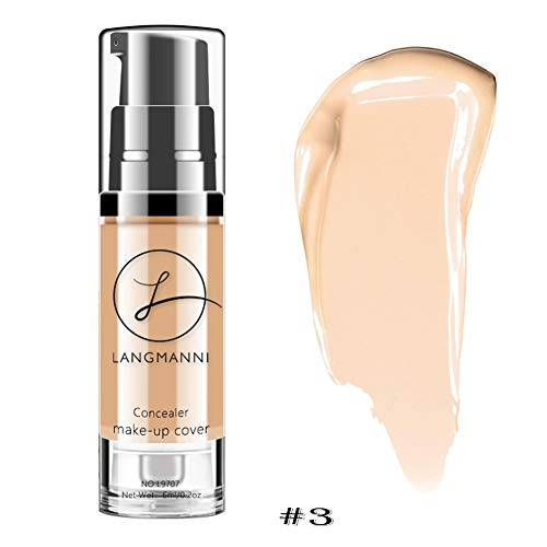 Allbesta La couleur naturelle de peau de camouflage de correcteur de fondation liquide éclairent la base durable de maquillage imperméable à l'eau