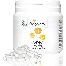 MSM Kapseln Hochdosiert Vegavero | Laborgeprüft | 99,9% reines MSM | 1.200mg MSM pro Tagesdosis | organischer Schwefel | 365 Kapseln | Vegan und OHNE Zusatzstoffe