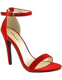 7ba7ee40 Amazon.es: sandalia tacon rojas - 35.5 / Zapatos para mujer ...