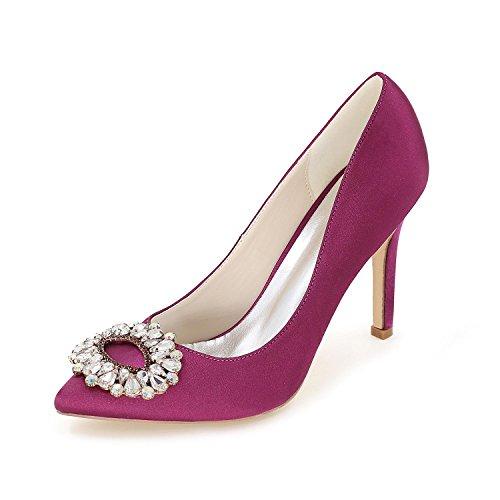 L@YC Scarpe Da Sposa Delle Donne / Primavera Estate Di autunno Satinato Sera Ufficio E Professionale Vestito Partito Di Svago Purple