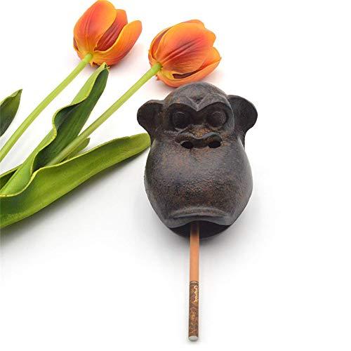 HPCZZ Posacenere in ghisa posacenere Humor Monkey posacenere Contenitore Desktop Decorazione Carino Decorazioni casa creativi Regali di Compleanno con Coperchio per Patio