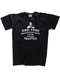 Drei Tore braucht ein Mann Kids Shirt Kinder-Shirt Schwarz 164