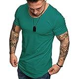 da5b8b406b0 Camisetas Hombre Manga Corta SHOBDW 2019 Blusas Color Sólido Cómodo Tallas  Grandes Tops Verano Camisetas Hombre Basicas Cuello Redondo Venta de  liquidación ...