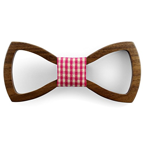 WoodForU designer Holzfliege OpenButterfly aus hochwertigem Walnussholz. Ob zur Hochzeit oder lässig zu einer Party, die handgefertigte Fliege aus Holz ist stets ein eleganter Hingucker (3)