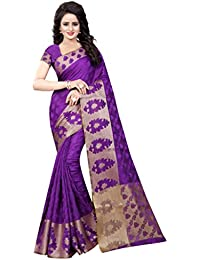 NIRJA CREATION PURPLE COLOR COTTON BANARASI SAREE