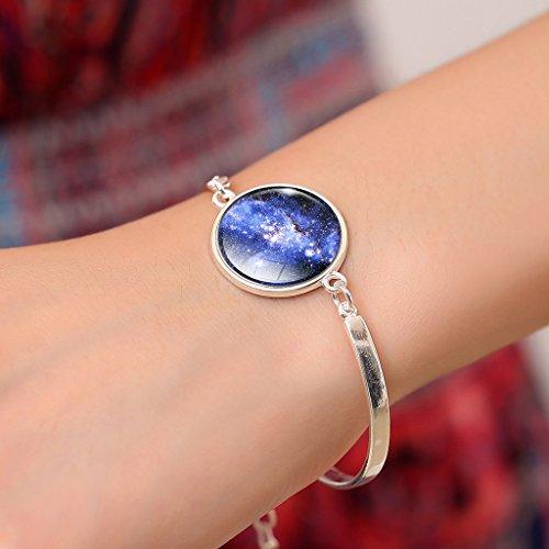 Jiayiqi Femmes Galaxie Univers Nébuleuse Temps Cristal Gemme Bracelet Cadeau De Vacances No3