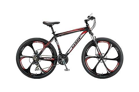 26 Zoll Herren Mountainbike 21 Gang Hoopfietsen Accrue, Farbe:schwarz-rot