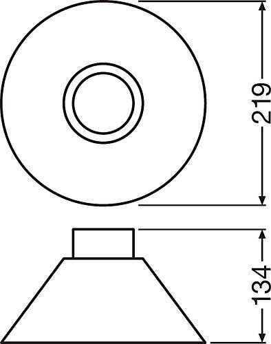OSRAM Vintage Edition 1906, Lampenschirm Cone Erweiterung Pendulum Leuchte, IP20, Aluminiumgehäuse, Aluminium, Schwarz/Weiß, 21.9 x 21.9 x 13.4 cm - 5