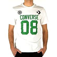Converse Basketball Theme Camiseta, Hombre, White/Green, Medium