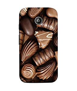 PrintVisa Designer Back Case Cover for Motorola Moto X2 :: Motorola Moto X (2nd Gen) (Wow Design Of Chocolates In Brown)