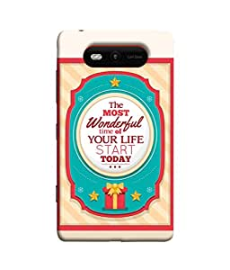 PrintVisa Designer Back Case Cover for Nokia Lumia 820 (Love Lovely Attitude Men Man Manly)