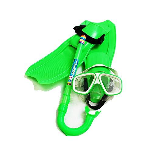 hunptail Tauchset Schnorchelset Tauchset mit Tauchmaske, Schnorchel, Flossen Tauchset für Kinder (grün)