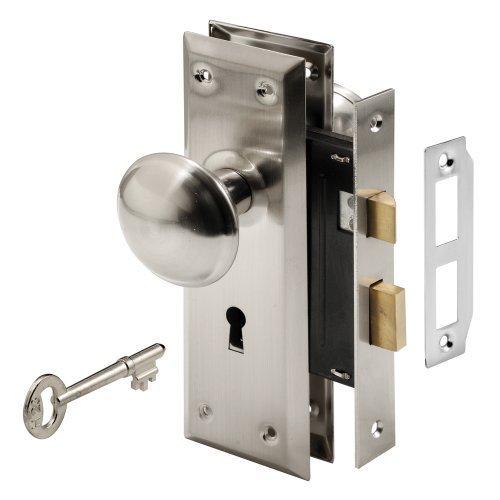 Keyed Lock-set (Prime-Line Products E 2330 Keyed Mortise Lock Set, Satin Nickel Finish by Prime-Line Products)
